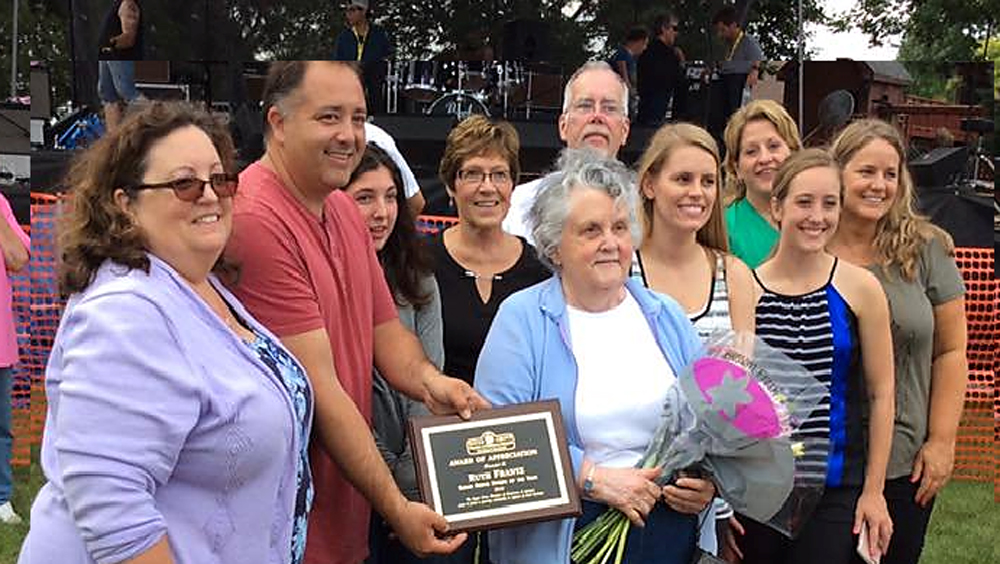 Sugar Grove Corn Boil Citizen of the Year 2018 Ruth Frantz
